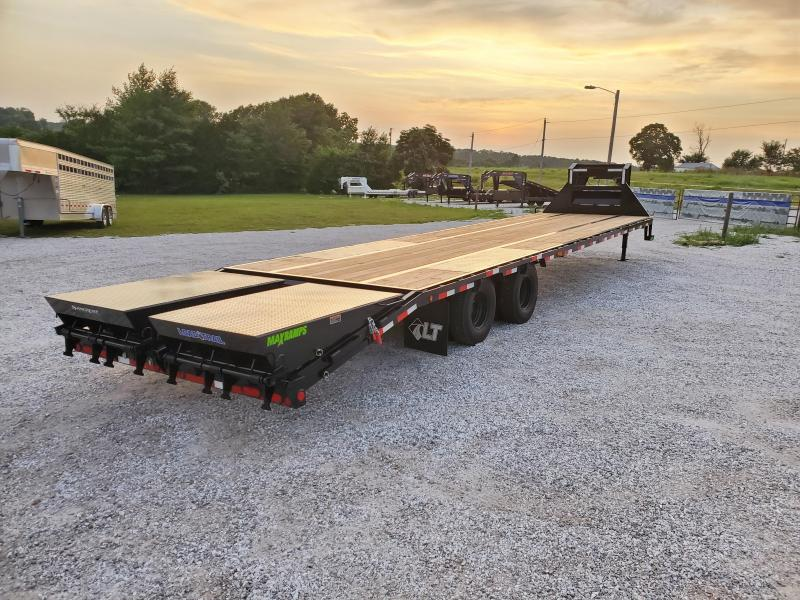 "2021 Load Trail 102"" x 36' Tandem Low-Pro Gooseneck w/Under Frame Bridge & Pipe Bridge & Hyd Disc Brakes"