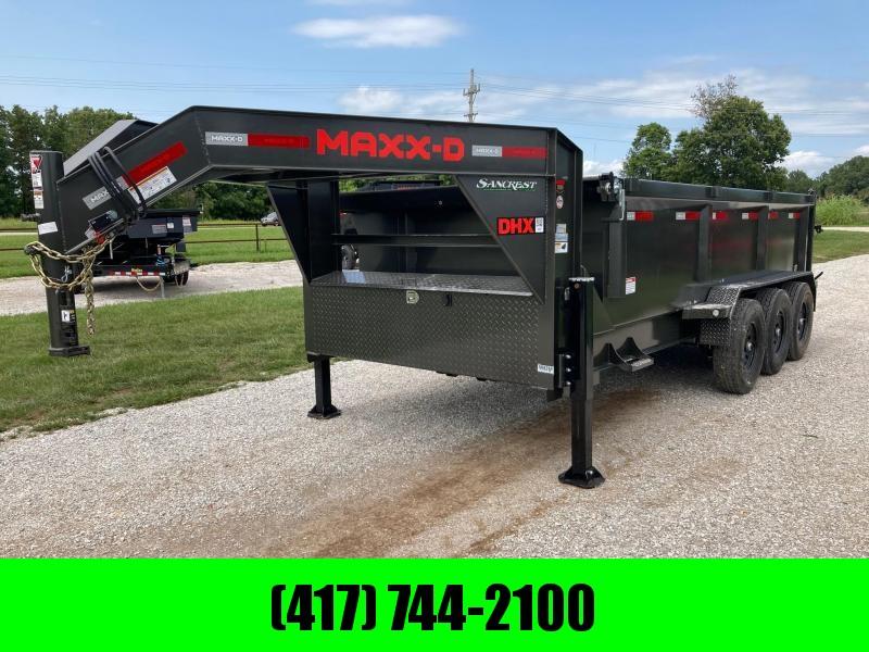 2021 MAXXD 83x16 TRIPLE 21K GOOSENECK DUMP W/ 3' SIDES AND SLIDE IN RAMPS