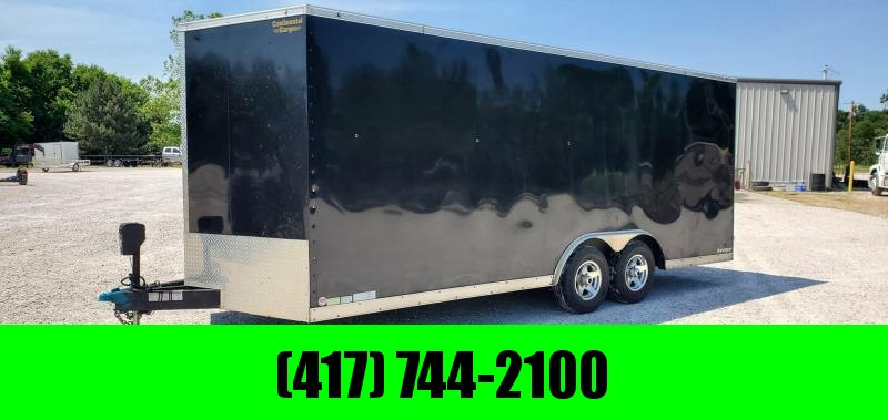 "2015 Continental 101X20 TANDEM 10K BLACK CARGO W/7' HEIGHT 4K ELECTRIC JACK & 48"" SIDE DOOR"
