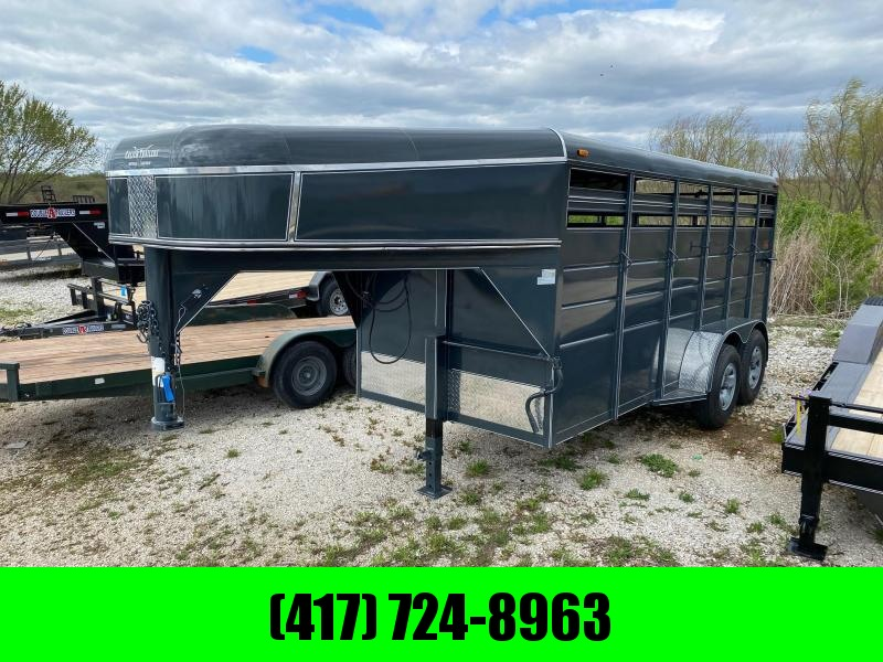2021 Calico Trailers Tandem GN Livestock Trailer