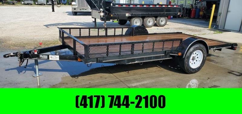 2003 NEAL 77X14 SINGLE 3.5K UTILITY W/RAMP RAILING