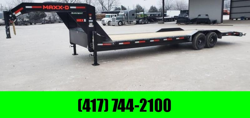 2021 MAXXD 102X28 TANDEM 14K BUGGY HAULER W/ SLIDE OUT RAMPS & STAB JACKS