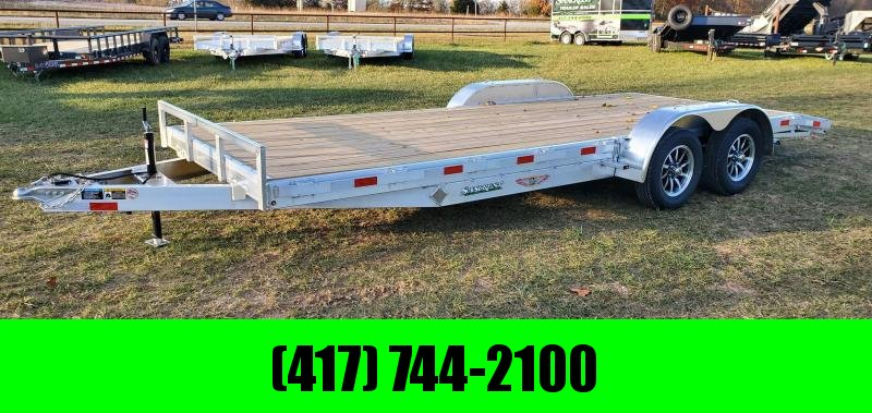 2021 H&H 82X20 TANDEM 7K ALUMINUM CAR HAULER W/SLIDE OUT RAMPS