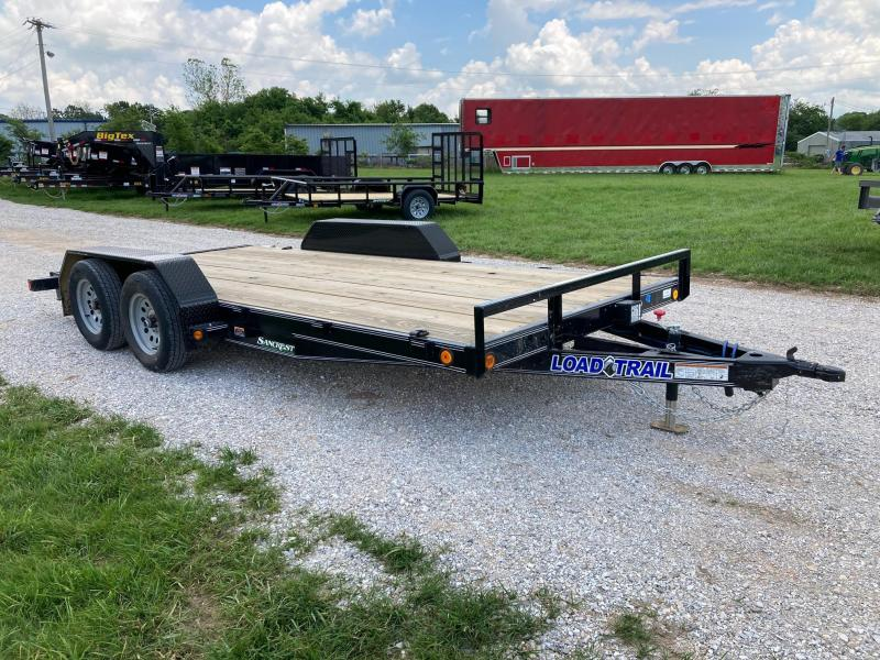 2021 Load Trail 80X16 TANDEM 7K CARHAULER W/ SLIDE IN RAMPS AND REMOVABLE FENDERS