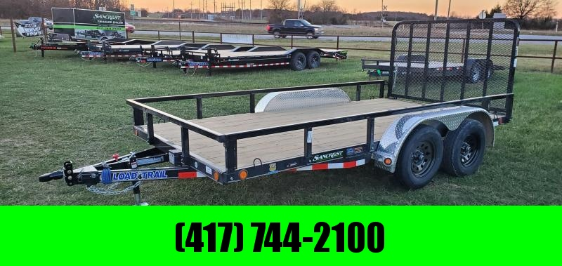 2021 Load Trail 83X14 TANDEM 7K UTILITY W/REMOVABLE TUBE TOP RAILING & 4' TUBE GATE