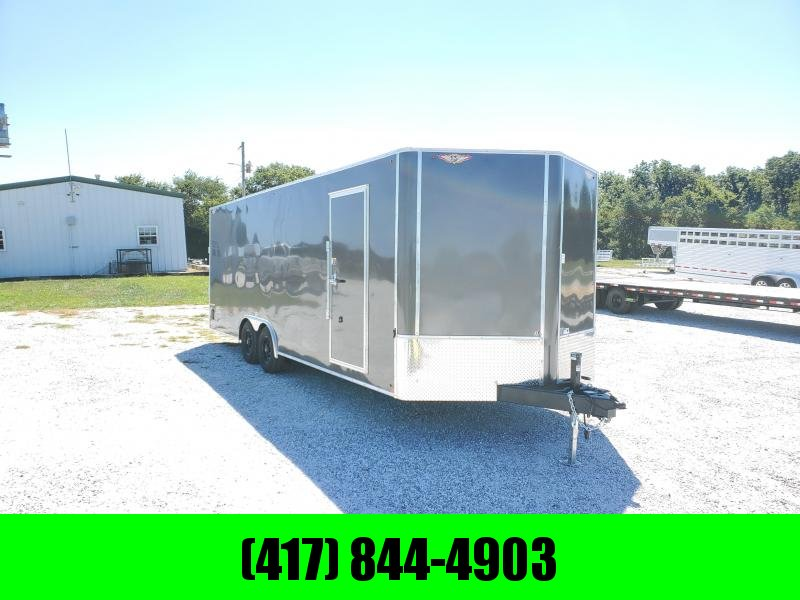 2021 H&H 101X24 TANDEM 10K CHARCOAL CARGO W/7' HEIGHT