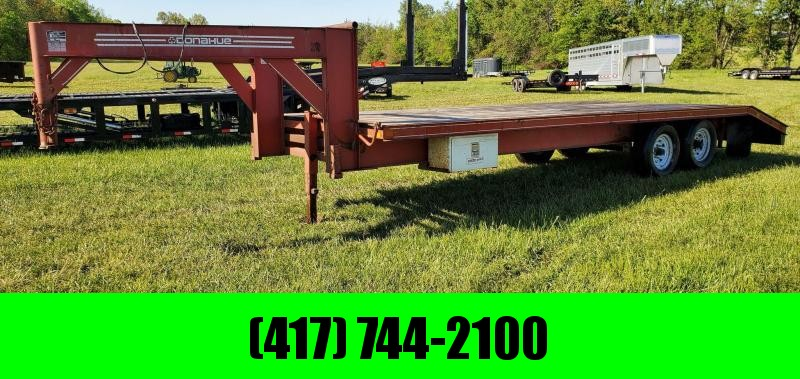 1992 Donahue 96X24 TANDEM 14K GN W/4FT POP UP DOVE NEW LED LIGHTS W/REVERSE NEWER TIRES& SLIDE IN RAMPS