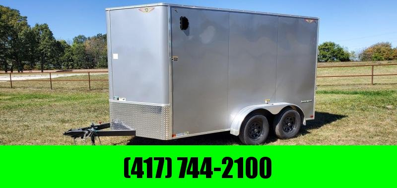 2021 H H 7X12 TANDEM 7K SILVER CARGO W 7 HEIGHT