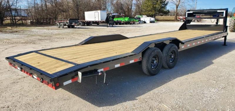 2021 Load Trail 102X32 TANDEM 14K CAR HAULER W/SLIDE OUT RAMPS & STAB JACKS