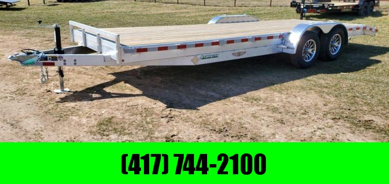 2021 H&H 82X22 TANDEM 10K ALUMINUM CAR HAULER W/2' EXTRUDED DOVE