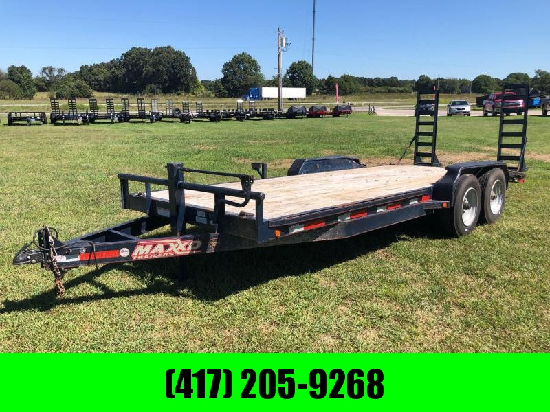 2016 MAXXD 83X20 14K EQUIPMENT TRAILER WITH STAND UP RAMPS