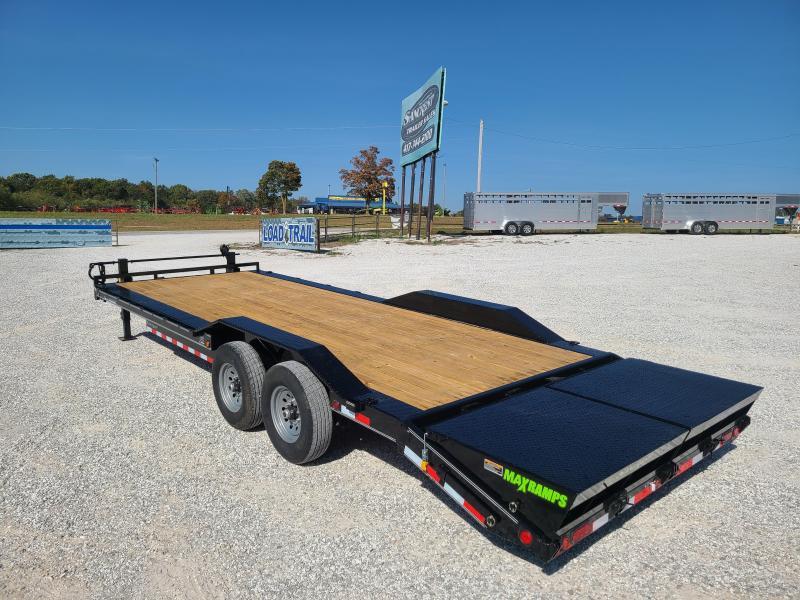 """2021 Load Trail 102"""" x 24' Tandem Axle Car hauler W/ MAX RAMPS"""