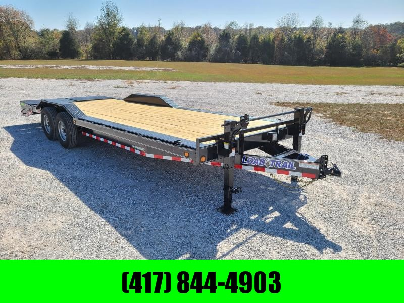 "2021 Load Trail 102"" x 24' Tandem Axle Car hauler W/ MAX RAMPS"