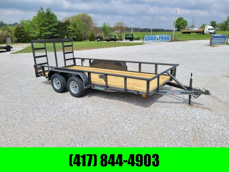2021 Double A 77 x 16 Tandem Utility Trailer