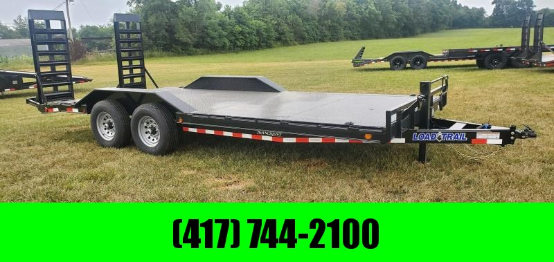 "2021 Load Trail 102X20 TANDEM 14K EQUIPMENT HAULER W/HD STAND UP RAMPS STEEL FLOOR & 12"" OC"