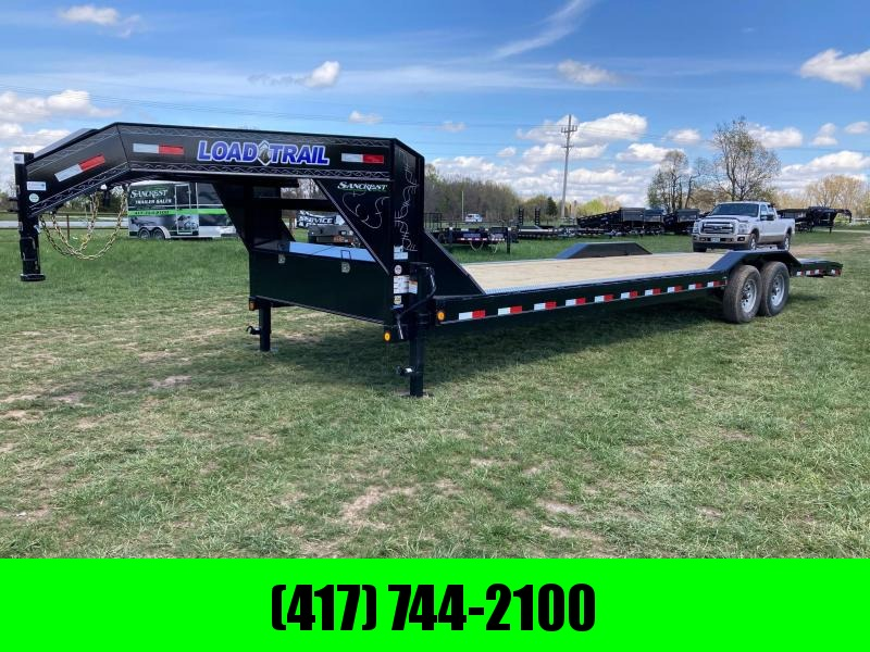 "2021 Load Trail 102""X30' TANDEM 14K EQUIPMENT HAULER W/ SLIDE IN RAMPS"