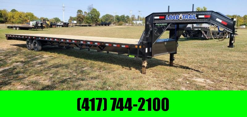 "2021 Load Trail 102X40 GOOSENECK W/8K AXLES ADJ RAT. RAIL  2 SPD. JACKS & 6"" SHORTER NECK LENGTH"
