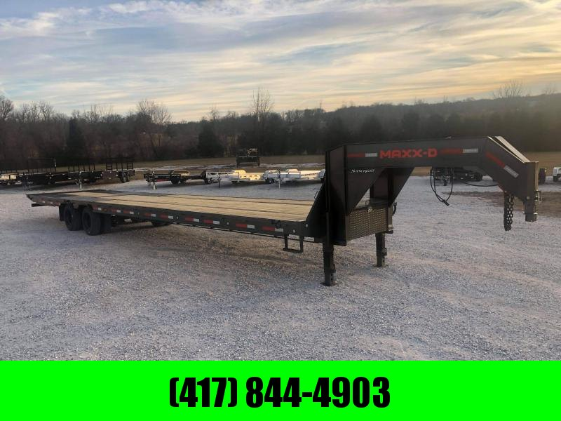 2021 MAXXD 102x40 Tandem 40K Flatbed Trailer W/ Torque Tube & 2 Speed Jacks & Hydrotail
