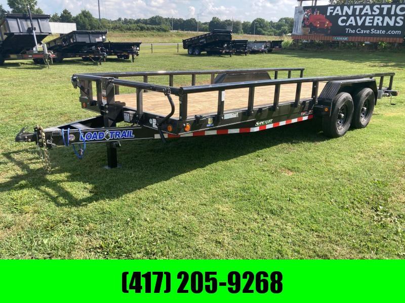 2022 Load Trail 83x20 Tandem Equipment Trailer W/ Removable Side Rails