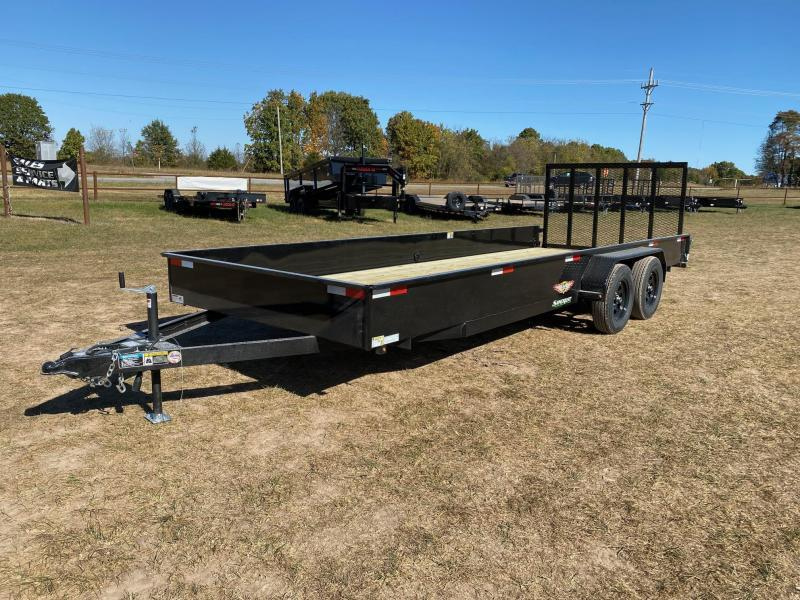 2021 H and H Trailer TANDEM 7K UTILITY W / SOLID SIDES Utility Trailer