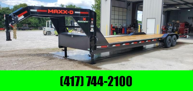 2021 MAXXD 102X32 TANDEM 14K H8X GOOSENECK BUGGY HAULER W/4FT DOVETAIL SLIDE OUT RAMPS & TORQUE TUBE