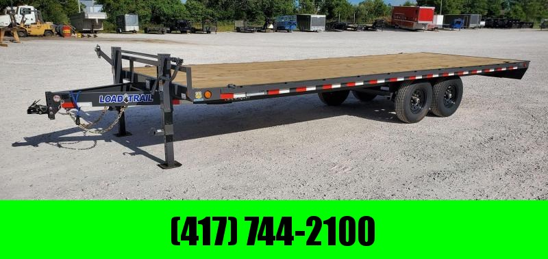 2021 Load Trail 102X24 TANDEM 14K GRAY DECKOVER W/SLIDE OUT RAMPS