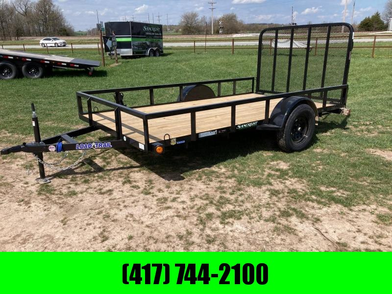 2021 Load Trail 77X12 SINGLE 3.5K UTILITY W/ TUBE TOP RAILING & 4FT TUBE GATE