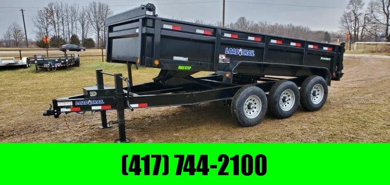 "2021 Load Trail 83X16 TRIPLE 21K DUMP W/2-10K JACKS & 24"" SIDES"