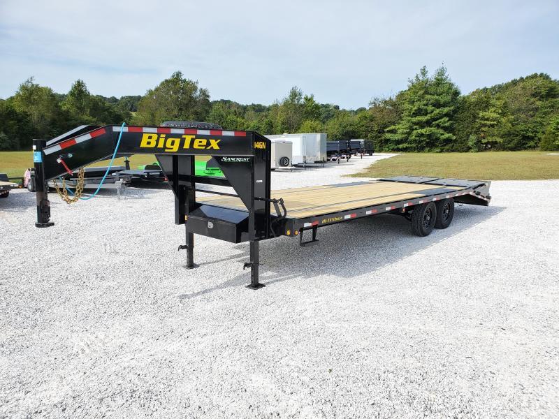 "2022 Big Tex 102"" x 20' + 5' Single Wheel Tandem Axle Gooseneck"