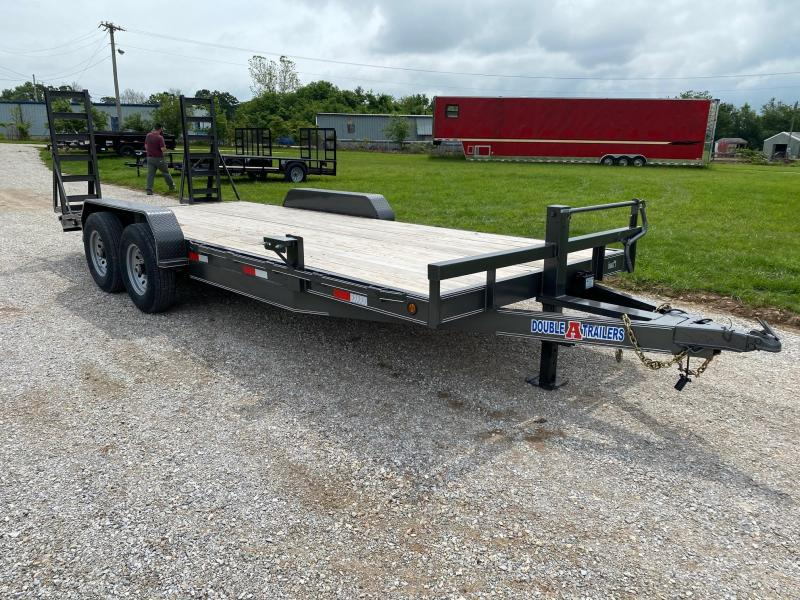 2020 Double A 83X20 TANDEM 14K EQUIPMENT HAULER W / STAND UP RAMPS