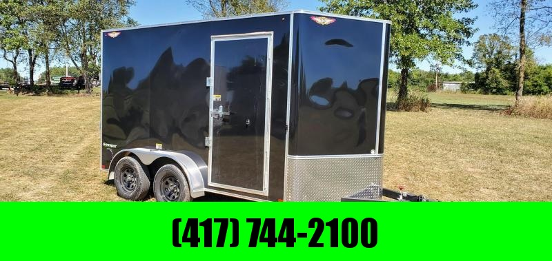 2021 H&H 7X12 TANDEM 7K CARGO W/7' HEIGHT & SPARE