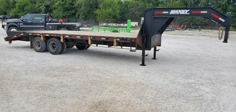 2014 MAXXD 102X25 TANDEM GOOSENECK W/12K DISC 14PLY RATCHET RAIL TORQUE TUBE & UNDER BRIDGE