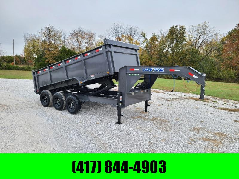 "2021 Load Trail 83"" x 16' Triple Axle Gooseneck Dump W/ 3FT SIDES"