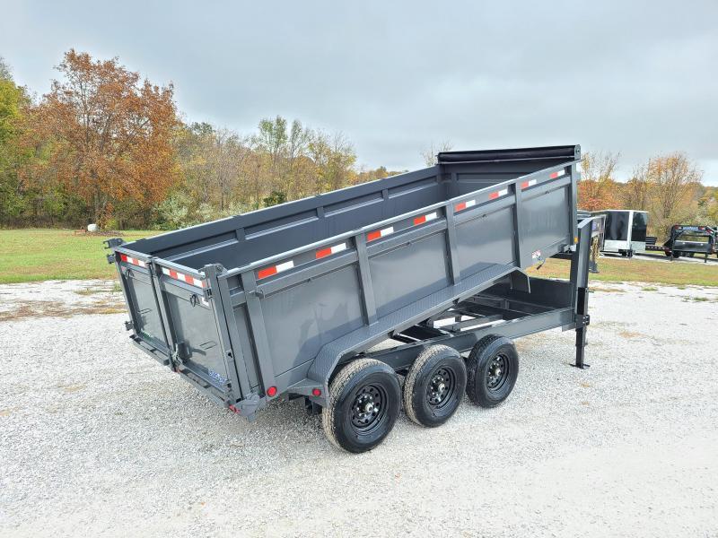 "2021 Load Trail 83"" x 16' Triple Axle Gooseneck Dump W/ 3FT SIDES"