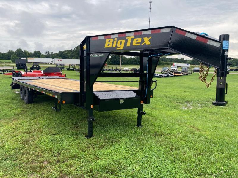 2022 Big Tex 102x25 Tandem GN Flatbed Trailer