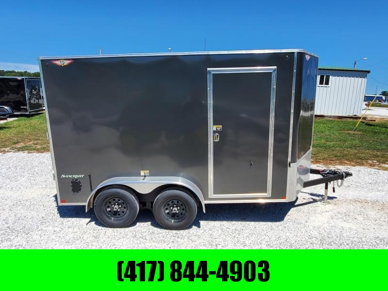 2021 H and H Trailer 7 X12 TANDEM 7K CARGO CHARCOAL