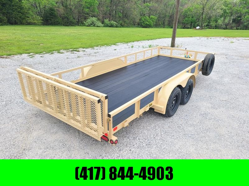 2022 Big Tex Trailers 83X18 Tandem Axle Utility Trailer  BLACKWOOD FLOOR W/ BI-FOLD GATE