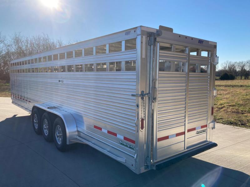 "2021 EBY 30'x6'11""x6'6"" Triple Axle Livestock Trailer"