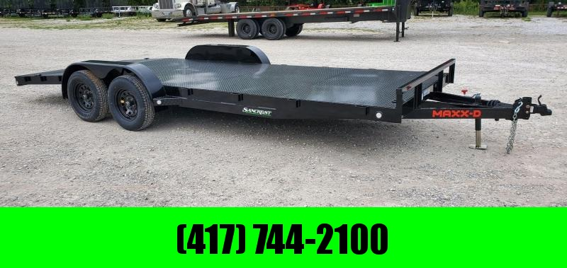 2021 MAXXD 83X20 TANDEM 7K BLACK C3M CAR HAULER W/4'DOVE & STEEL DECK