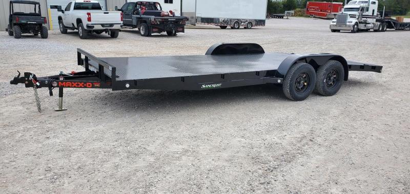 2021 MAXXD 83X20 TANDEM 7K BLACK C3M CAR HAULER W/4'DOVE & STEEL DECK