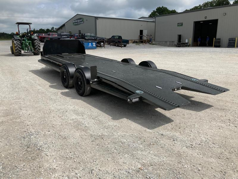 2021 MAXXD 80X24 TANDEM 10K METALLIC GRAY BLACK OUT DROP-N-LOAD AIR RIDE