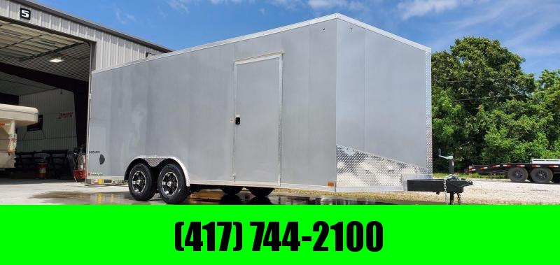 2021 Impact 8.5X20 TANDEM 10K SILVER SHOCKWAVE CARGO W/7FT HEIGHT