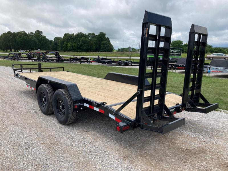 2021 Load Trail 83X20 TANDEM 14K CARHAULER W/ 2' DOVE AND STAND UP RAMPS