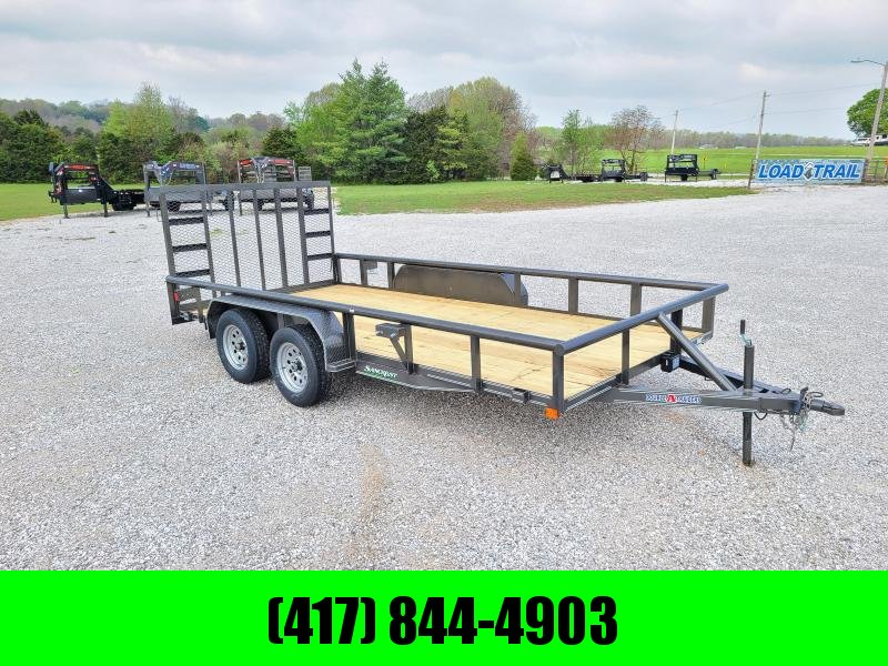 2021 Double A 83 x 16 Tandem Utility Trailer