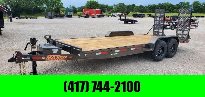 2020 MAXXD 83X20 TQANDEM 14K C6X EQUIPMENT HAULER W/EQUIPMENT STAND UP RAMPS & TOOLBOX