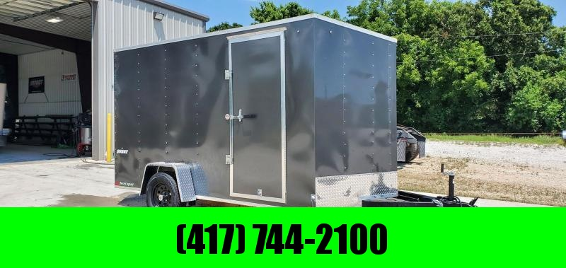 "2020 Impact 7X12 SINGLE 3.5K CHARCOAL QUAKE CARGO W/6'6"" HEIGHT"