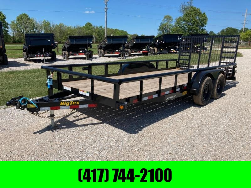 2021 Big Tex Trailers 83X18 TANDEM 10K UTILITY W/ 4' RAMP GATE