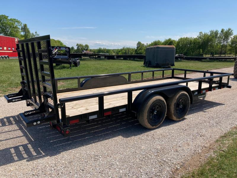 2021 Big Tex Trailers 83X18 TANDEM 10K UTILITY W/ 4' RAMP GATE