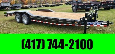 "2021 Load Trail 102X24 TANDEM 14K EQUIPMENT HAULER W/8"" FRAME 2-10K JACKS& MAX RAMPS"