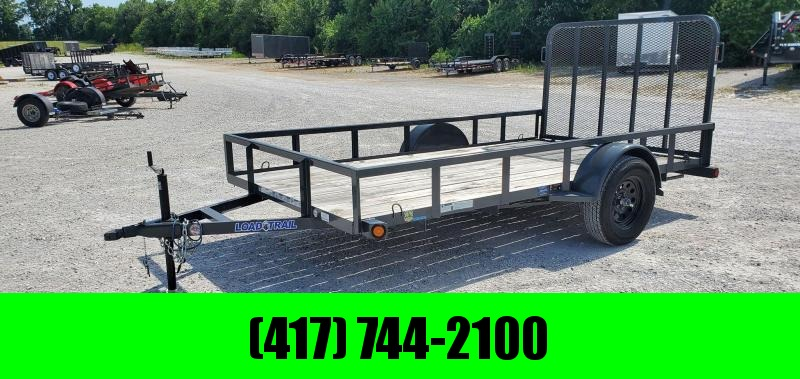 2018 Load Trail 77X12 SINGLE 3.5K GRAY UTILITY W/TUBE TOP RAILING & 4' TUBE GATE